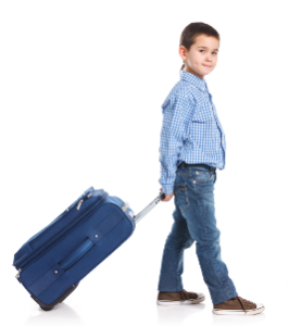 Child with a suitcase